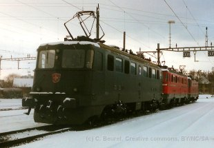 CH - CFF - Ae 6/6 11468 Lenzburg à Bienne