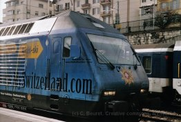 CH - CFF Re 460 My Switzerland avec Webcam